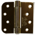Spring loaded hinges brass